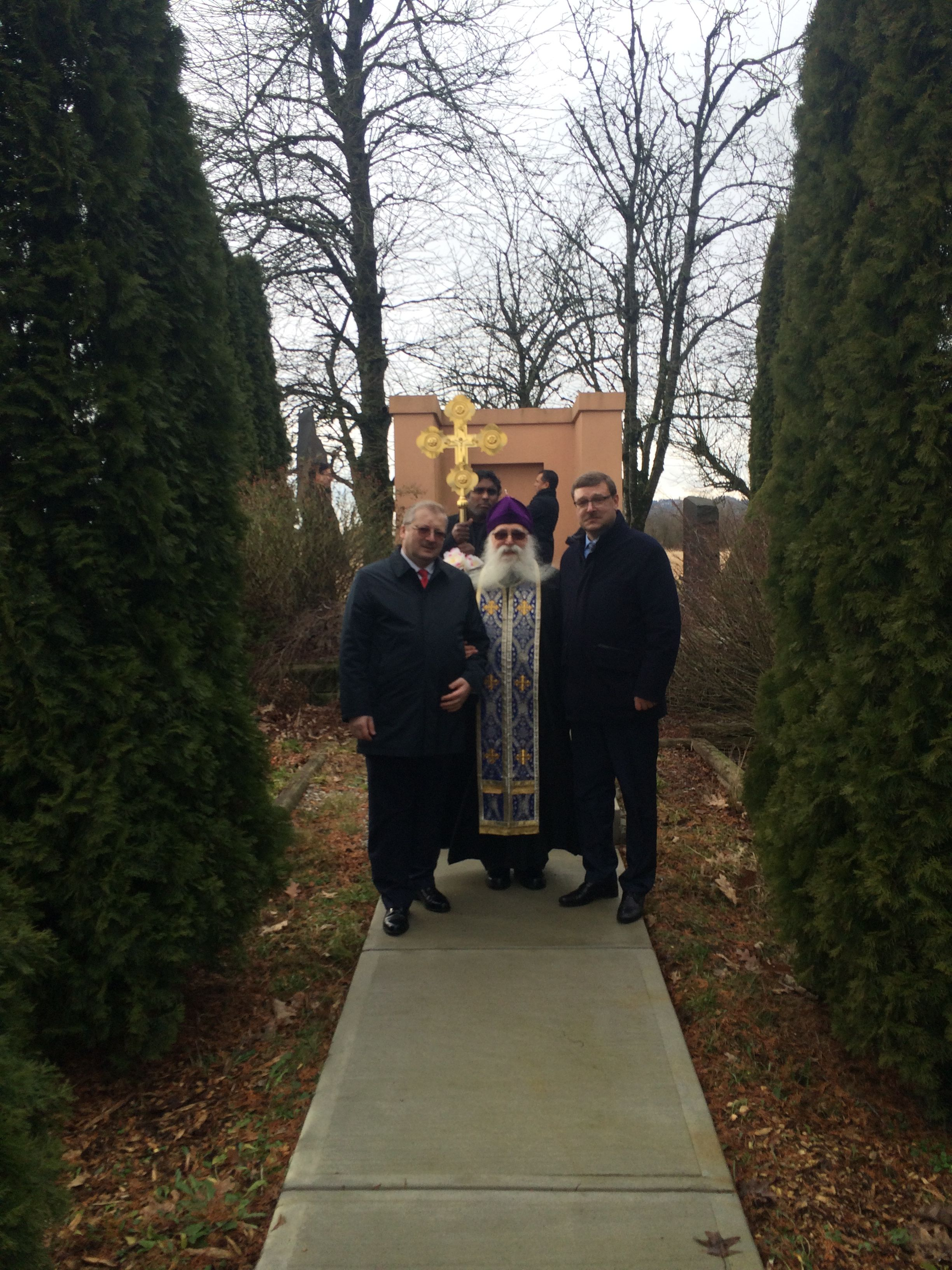Alexander Darchiev, Russian Ambassador to Canada, Bishop Varlaam, Konstantin Kosachev, Member of the Russian Senate